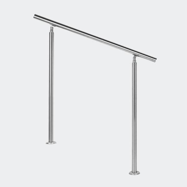 Kit Rampe en aluminium 1,50/m balcon ou terrasse garde-corps Parapet rambarde utilisable comme Rampe descalier En aluminium Convient pour lint/érieur et ext/érieur.